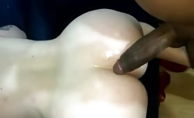 Meaty Cunt Spread for a Black Dong
