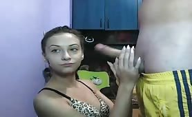 Cam Chick Only Gives Handjobs for Free