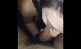 Brunette Pounded While Giving Head