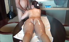 Anal sex with a chubby Asian babe