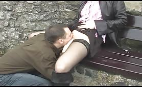 Couple Has Oral Sex Outdoors