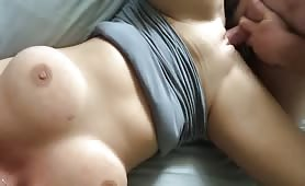Blonde Creampied After Intense Pounding