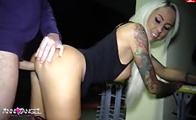 Tattooed Slag Shagged on Display
