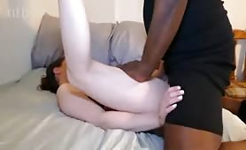 Pale Brunette Shagged by Black Stud