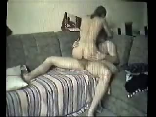 Married couple fucking on couch