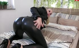 Lara Shows Off Her Big Butt in Latex Pants